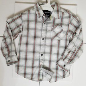 Calvin Klein Jeans Plaid Button Down Kids Large